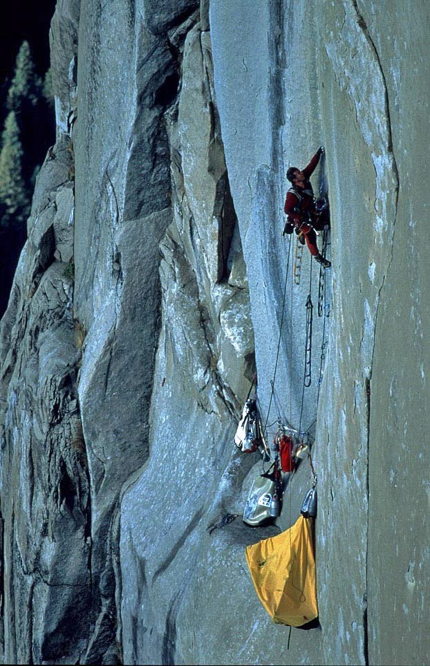 California USA'deki El Capitan Reticent Wall Rotası 'ndan