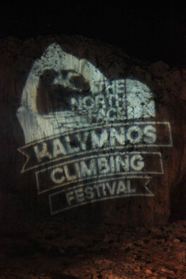Kalymnos Climbing Fest Logo on rocks