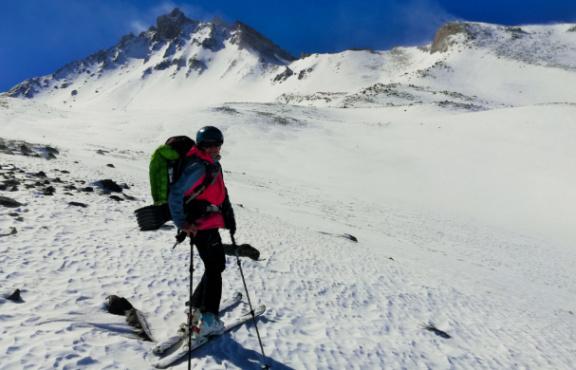 Erciyes Kuzey Yüzü, Kayakla Tırmanış & İniş
